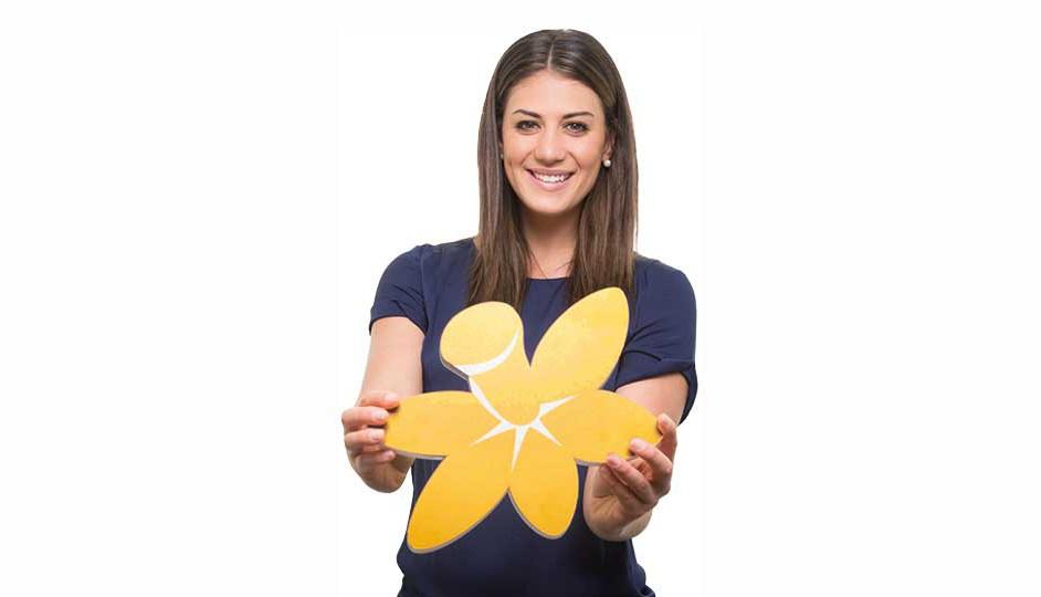 El narciso amarillo se entrega a cambio de una colaboración para la lucha contra el cáncer.