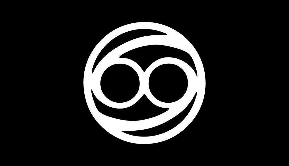 25. El signo de Cáncer incluido en una aproximación a las tecnologías de exploración y radiación (negro sobre blanco).