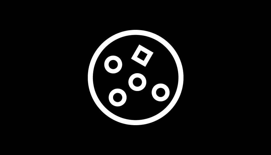 35. Síntesis geométrica básica de una neoplasia (blanco sobre negro).