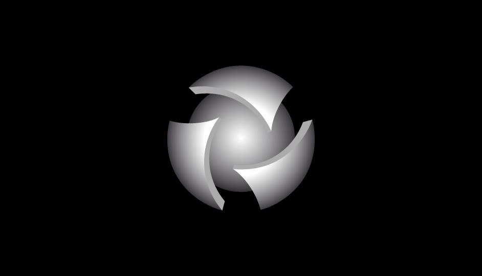 41. Composición abstracta envolvente referencial para simbolizar la idea del hospital de día (3 D sobre negro).