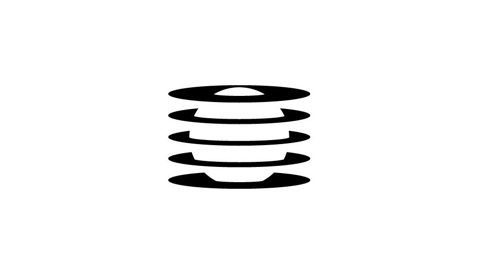 46. Analogía de exploración, radiación y confinamiento celular (negro sobre blanco).