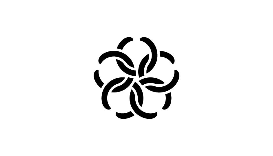 16. Imbricación de formas que representa a las células carcinógenas, a las cabezas de las serpientes, y a los métodos de tratamiento radiológico (modalidad plana original).