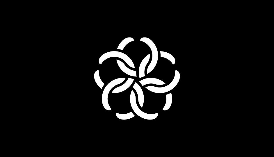 15. Imbricación de formas que representa a las células carcinógenas, a las cabezas de las serpientes, y a los métodos de tratamiento radiológico (modalidad plana original inversa).