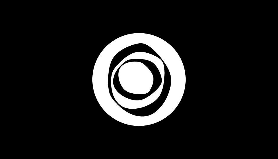 27. Efecto formal distorsivo para crear un signo singular asociado a la oncología (blanco sobre negro).