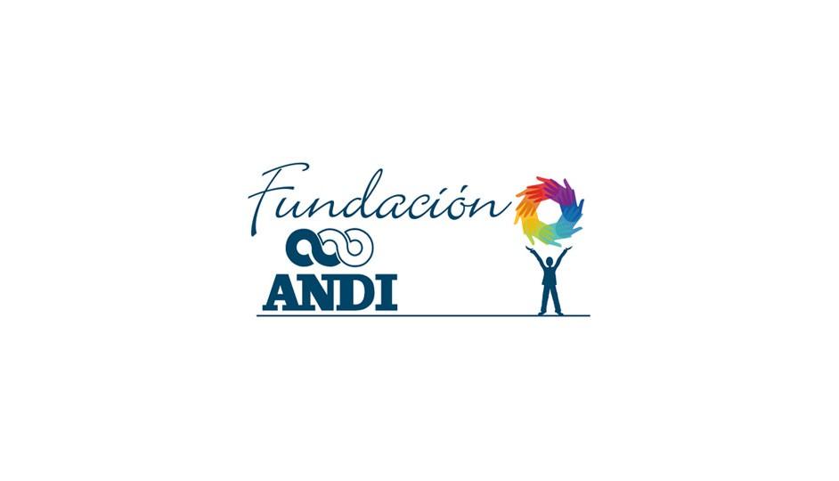 Fundación ANDI: el isotipo refuerza la idea de colaboración multidisciplinaria.