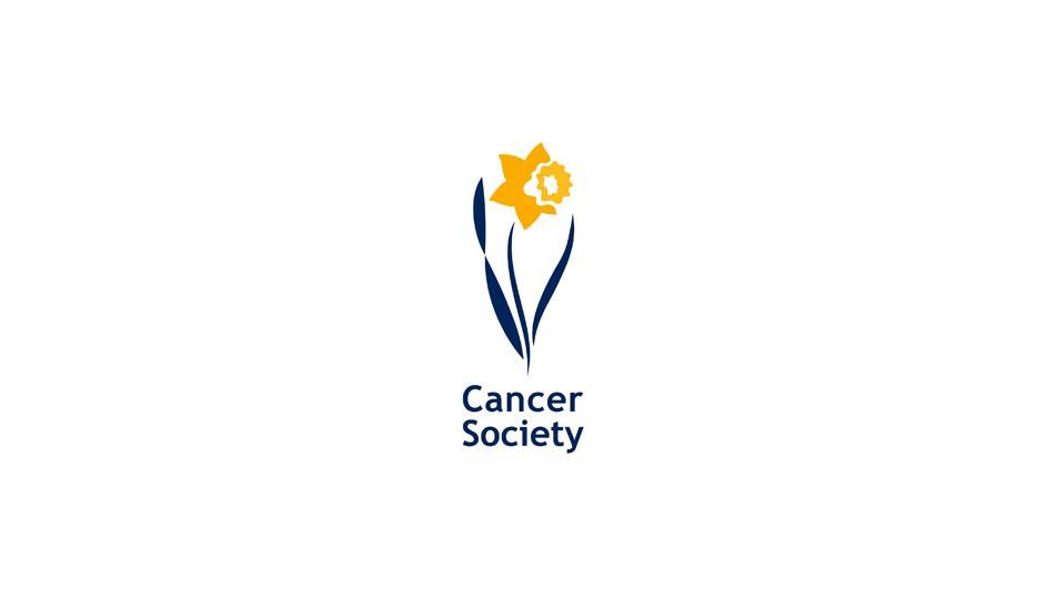 Cancer Society: isotipo que recurre una vez más a la imagen de la flor.