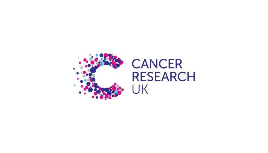 Cancer Research: sobre la base de la C, desarrolla una forma que remite a múltiples ideas asociadas.