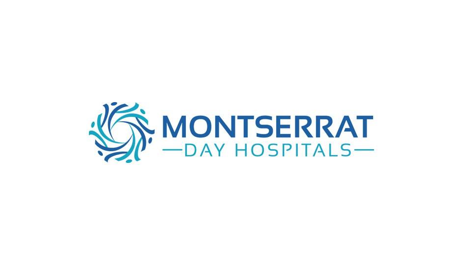 Montserrat: el isotipo, de una complejidad equilibrada, alude a múltiples aspectos del problema oncológico.