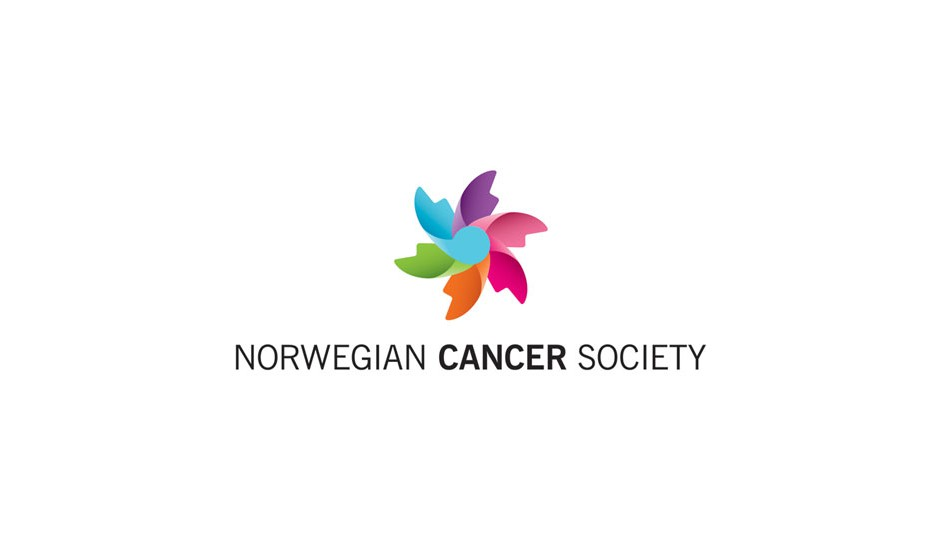 Norwegian Cancer Society: combinación interesante de signos para un resultado balanceado y agradable.