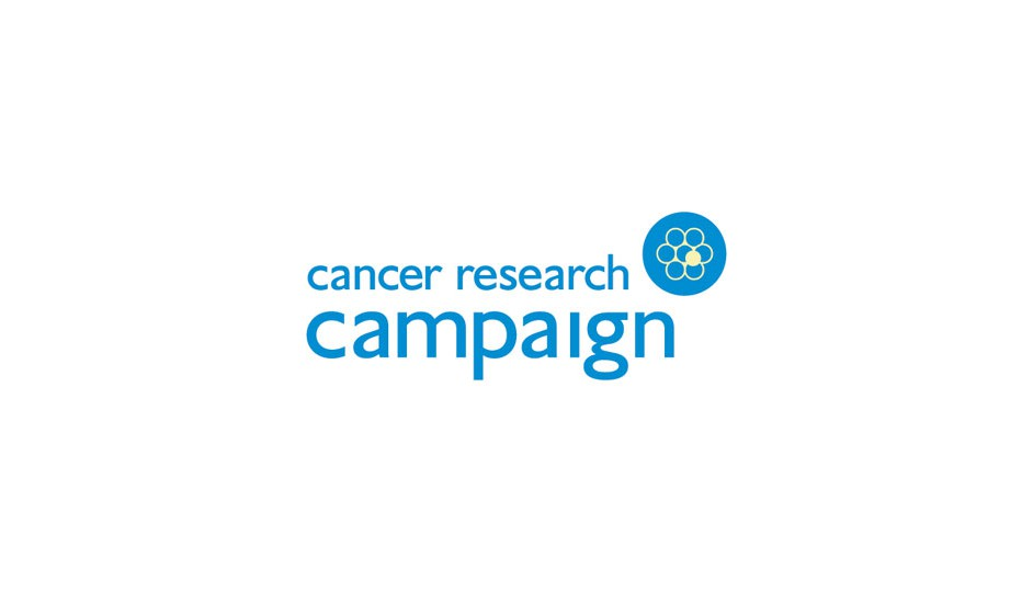 Cancer Research Campaign: reúne en un isotipo simple lo fundamental de su misión organizacional.