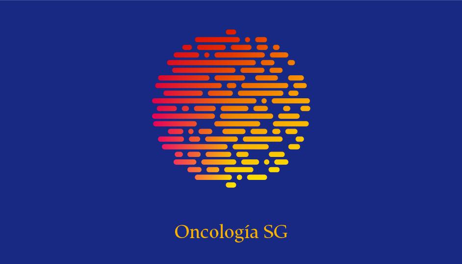 Isotipo OSG (amarillo sobre azul en gradiente doble).