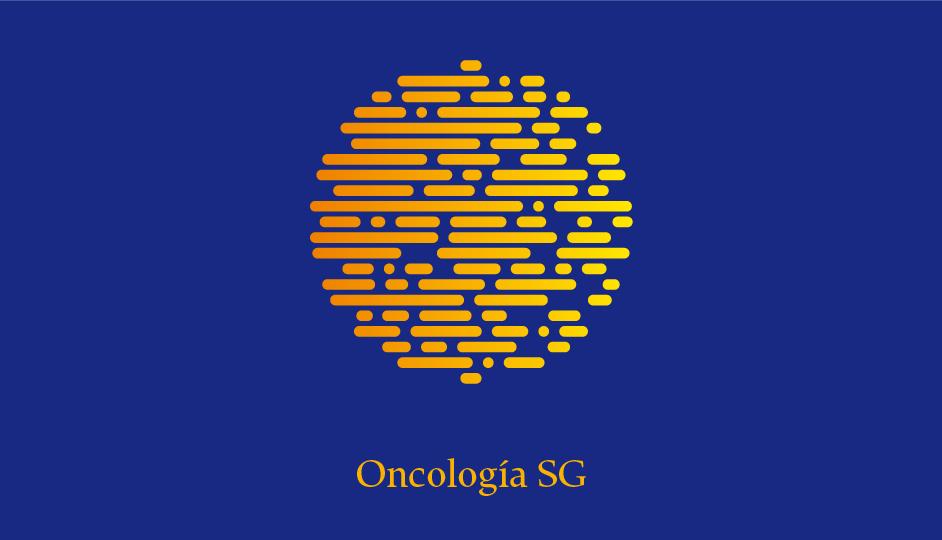 Isotipo OSG (amarillo sobre azul en gradiente simple monocromo).