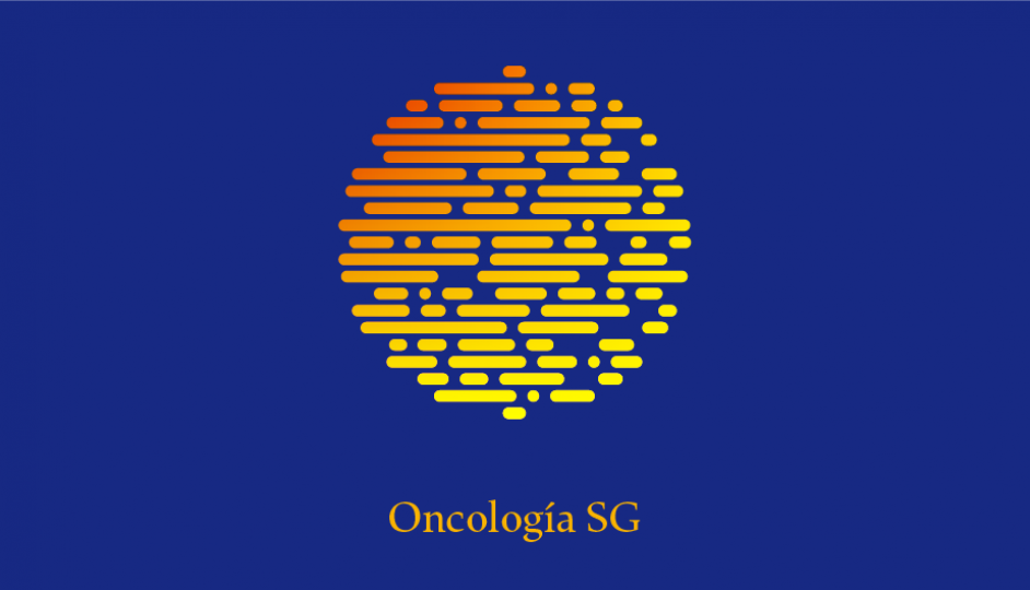 Isotipo OSG (amarillo sobre azul en gradiente doble monocromo).