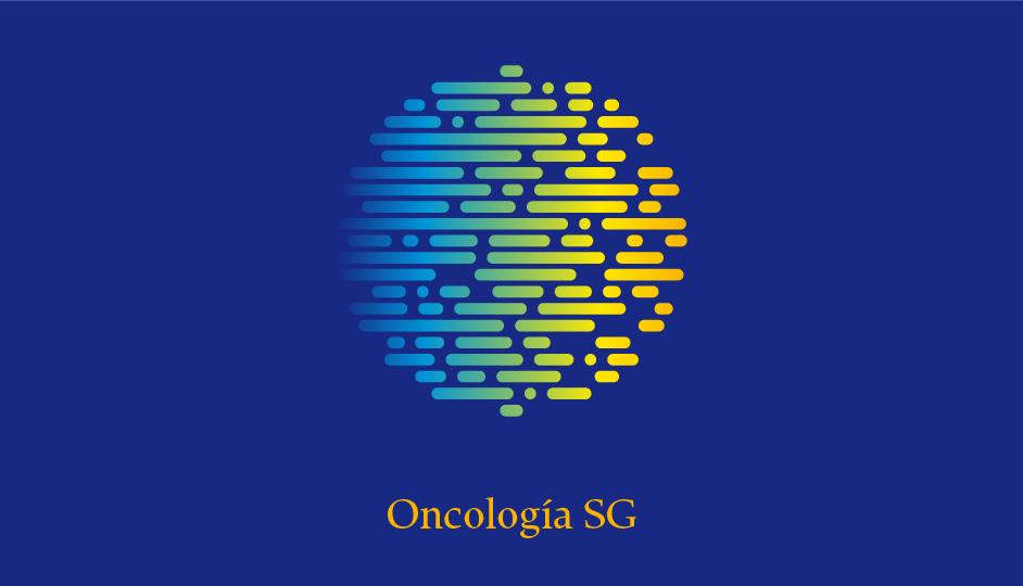 Isotipo OSG (amarillo sobre azul en gradiente simple policromático de choque).