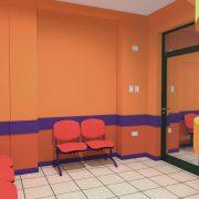 Sala de espera de Pediatría y Mesa de Entrada.