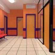 Sala de espera y habitaciones de Neonatología.