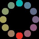 Círculo cromático: esquema complementario.