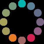 Círculo cromático: esquema complementario dividido.