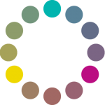 Círculo cromático: esquema de tríada.