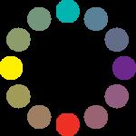 Círculo cromático: esquema de tétrada.