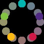 Círculo cromático: esquema de pentagrama.