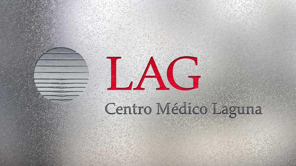 LAG · GSG · Centro Médico Laguna, Santo Tomé: marca en composición de fantasía.